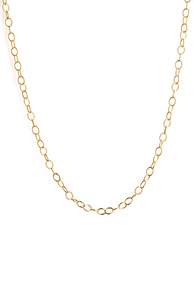 Syna - Yellow Gold Oval Link Chain Necklace
