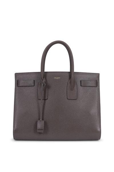 Saint Laurent - Sac De Jour Gray Grained Leather Medium Tote
