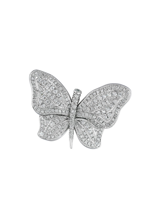 Aaron Henry Diamond Butterfly Pin