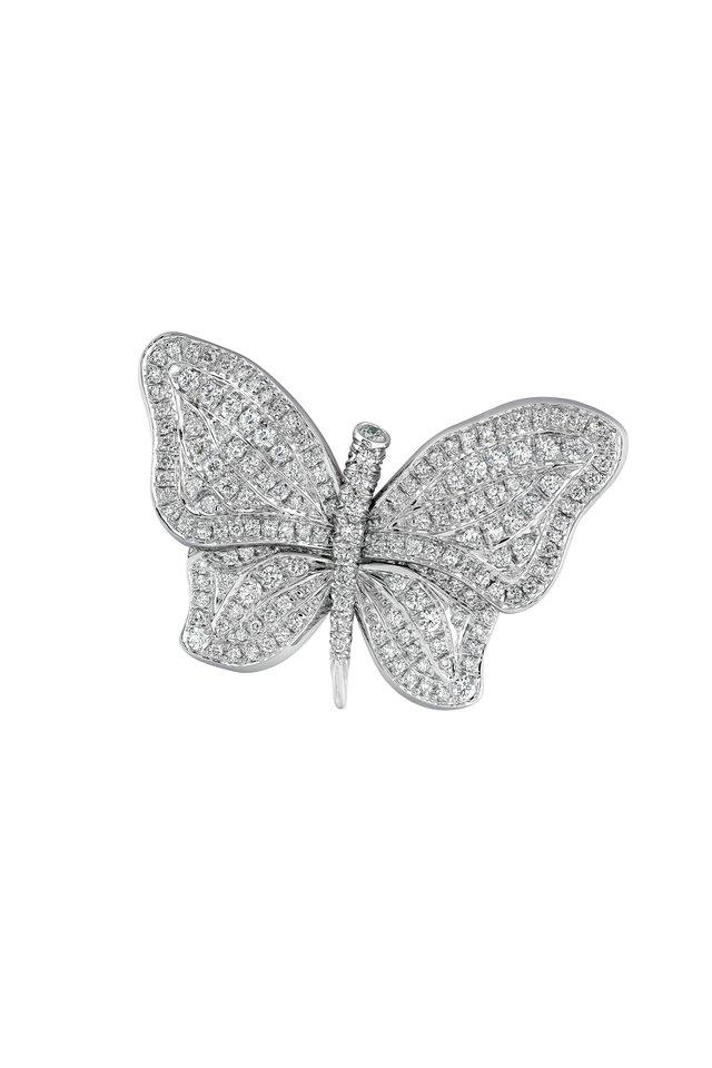Diamond Butterfly Pin