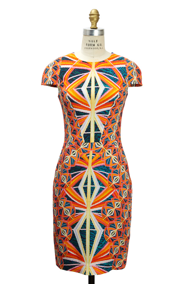 Marissa Orange Multicolor Dress
