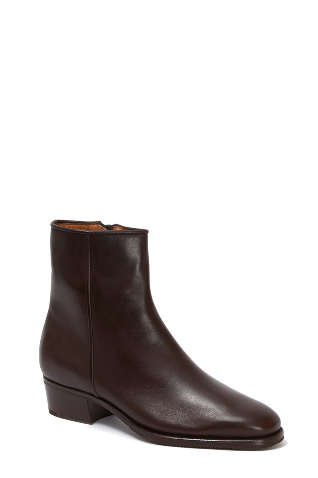 Brown Leather Ankle Boot, 35mm