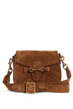 Gucci - Lady Web Tan Suede Medium Shoulder Bag