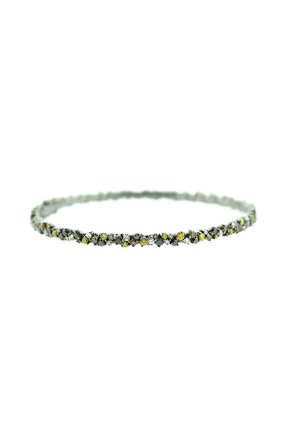 Paul Morelli - White Gold Multicolored Confetti Bangle Bracelet