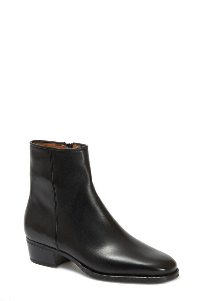Black Leather Ankle Boot, 35mm