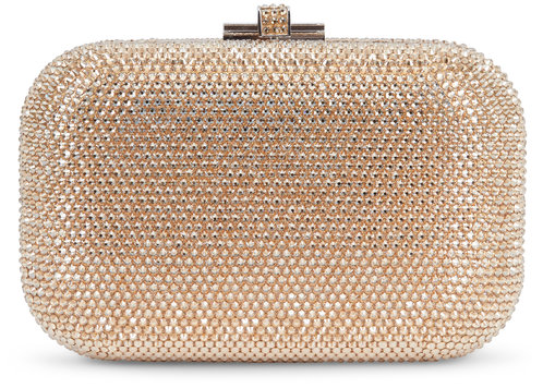 Judith Leiber Couture Champagne Crystal Slide-Lock Minaudière