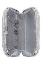 Judith Leiber Couture - Silver Crystal Slide-Lock Minaudière
