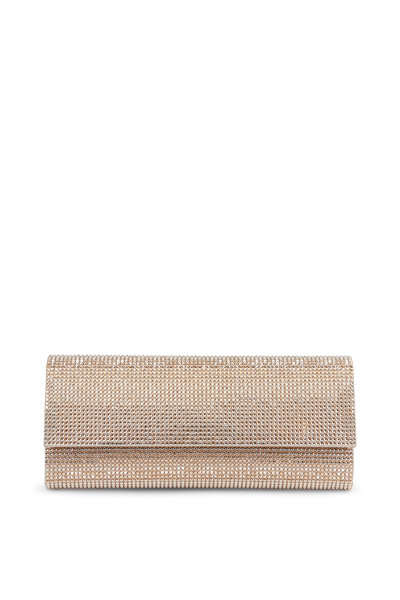 Judith Leiber Couture - Champagne Crystal Flap Front Clutch