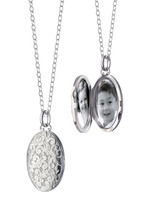 Monica Rich Kosann - Sterling Silver Floral Locket Necklace