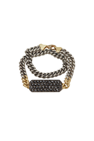 Sylva & Cie - Black Diamond Chain Table Bracelet