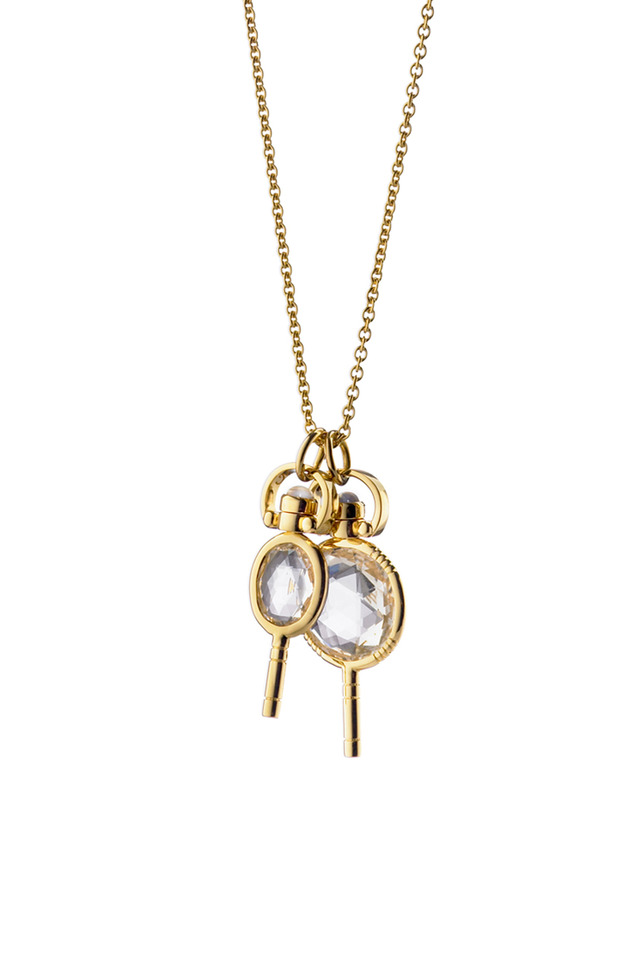 18K Yellow Gold Key Charm Necklace