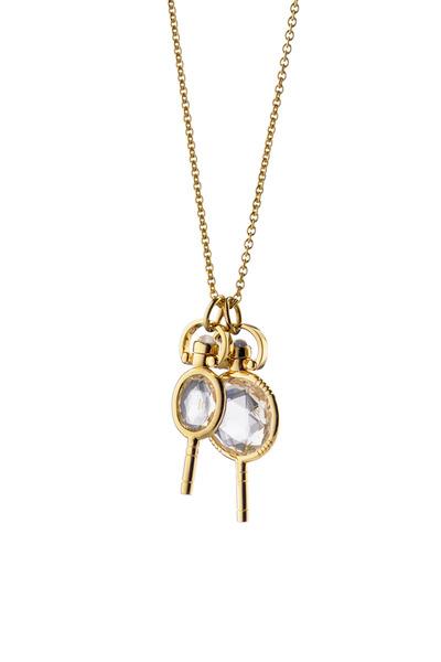 Monica Rich Kosann - 18K Yellow Gold Key Charm Necklace