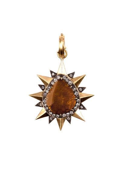 Sylva & Cie - Yellow Gold & Silver Diamond Pendant