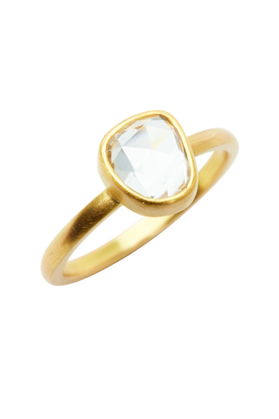 Caroline Ellen - 22K Yellow Gold Rose-Cut Zircon Ring