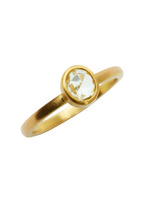 Caroline Ellen - 22K Yellow Gold Rose-Cut Sapphire Ring