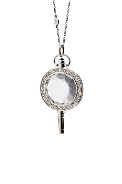 Monica Rich Kosann - Sterling Silver Crystal & Sapphire Key Necklace