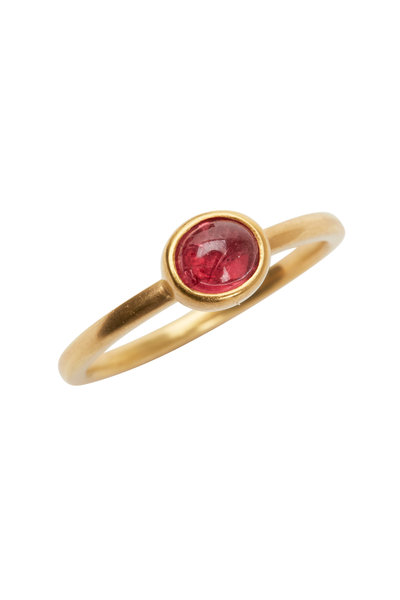 Caroline Ellen - 20K Yellow Gold Red Sapphire Ring