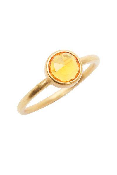 Caroline Ellen - 20K Yellow Gold Yellow Sapphire Ring