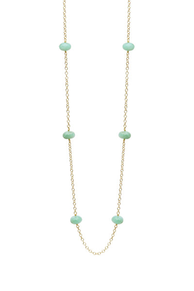 Caroline Ellen - Yellow Gold Peruvian Opal Necklace