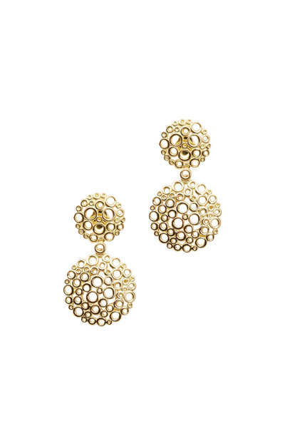 Paul Morelli - Yellow Gold Double Favia Dangle Earrings