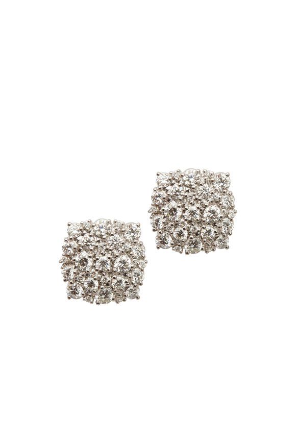 Paul Morelli 18K White Gold Diamond Confetti Studs