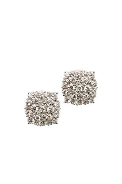 Paul Morelli - 18K White Gold Diamond Confetti Studs