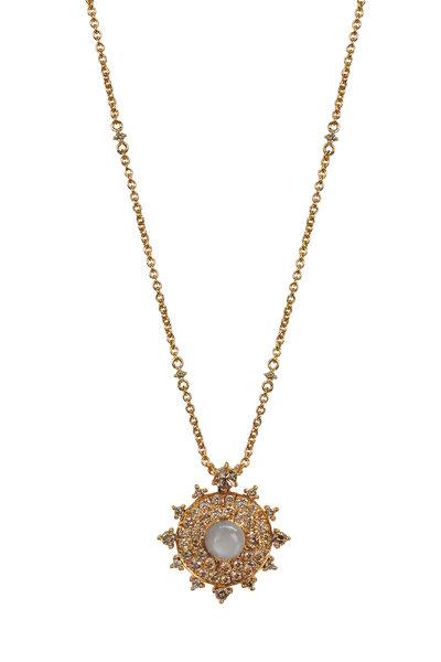 Nam Cho - 18k Pink Gold Moonstone & Diamond Necklace