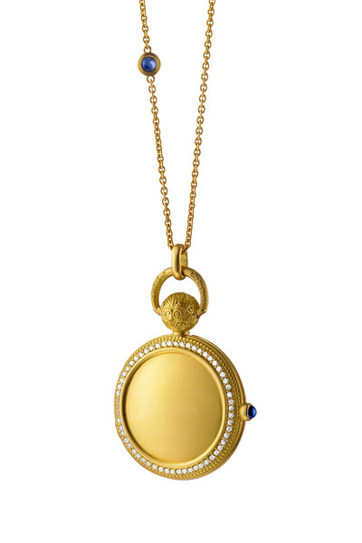 Monica Rich Kosann - Gold Diamond Pocket Watch Locket