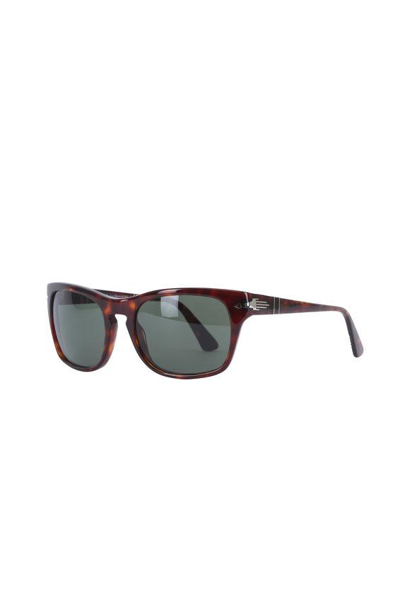 Persol Havana Square Sunglasses