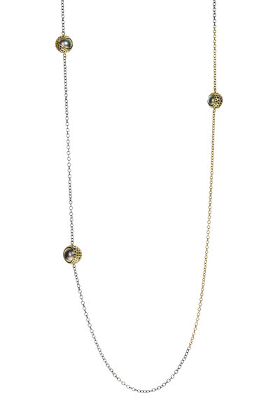 Todd Reed - Gold & Sterling Silver Tahitian Pearl Necklace