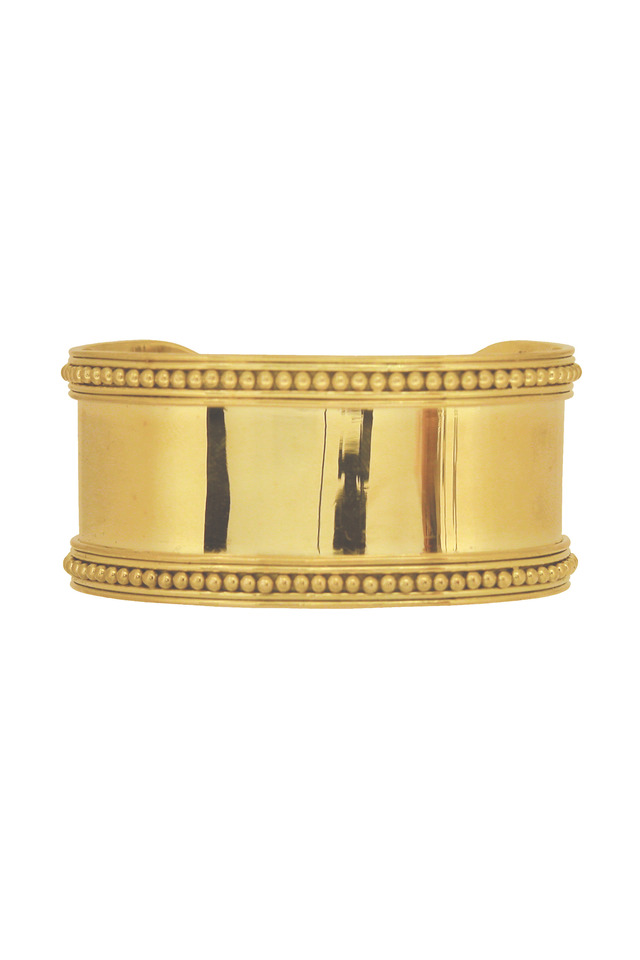 Yellow Gold Medieval Granulated Cuff Bracelet