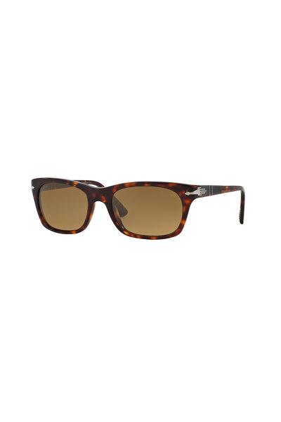 Persol - Square Havana Polarized Sunglasses