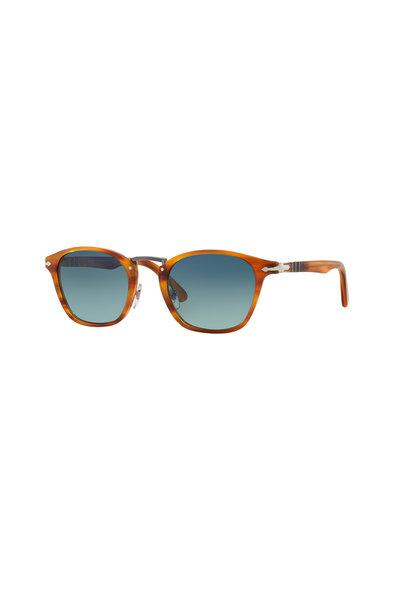 Persol - Typewriter Brown Polarized Phantos Sunglasses