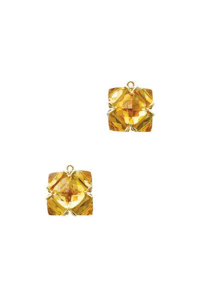 Paolo Costagli - Yellow Gold Citrine Earring Pendants