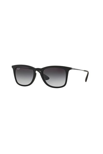 Ray Ban - Youngster Matte Black Rubberized Square Sunglasses