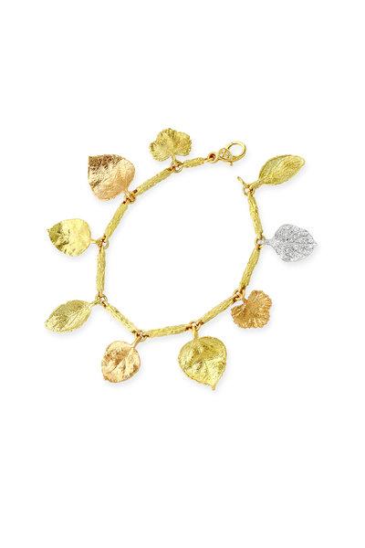 Aaron Henry - Gold Diamond Branch Link Charm Bracelet