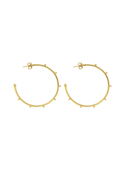 Temple St. Clair - 18K Yellow Gold Granulated Hoops