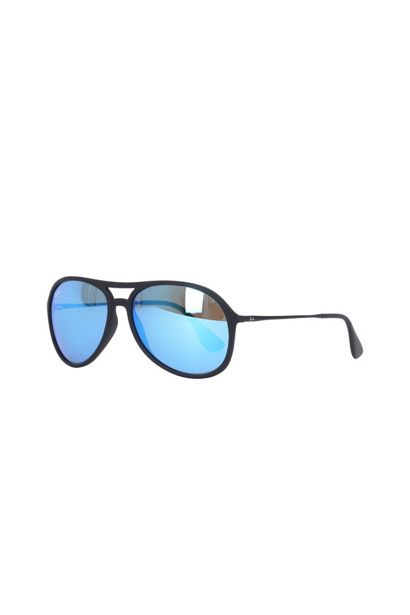 Ray Ban Youngster Blue Mirror Pilot Sunglasses