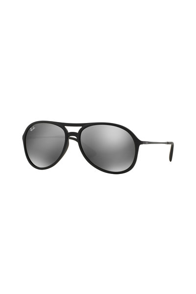 Ray Ban - Youngster Black Rubberized Pilot Sunglasses
