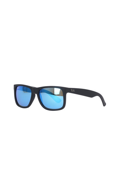 Ray Ban - Youngster Black Rubberized Rectangle Sunglasses