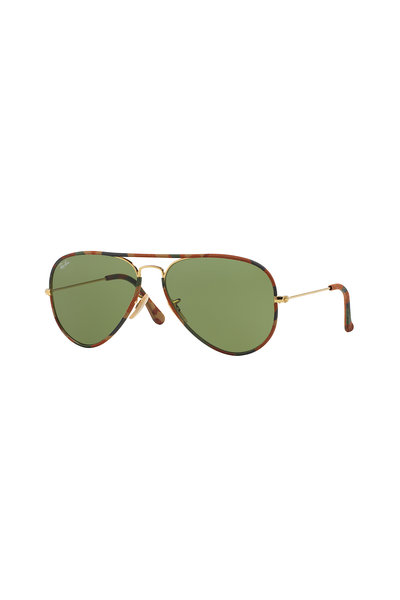 Ray Ban - Icons Gold Metal Aviator Sunglasses