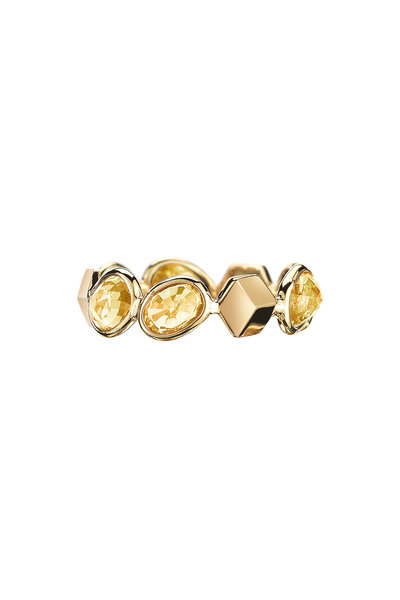 Paolo Costagli - Yellow Gold Ombre Orange Sapphire Ring