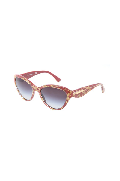 Dolce & Gabbana - Cat-Eye Gold & Red Sunglasses