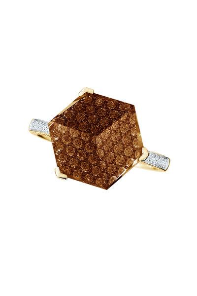 Paolo Costagli - Brillante Valentina Gold Citrine Diamond Ring