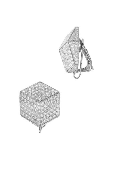 Paolo Costagli - White Gold Pavé Diamond Brilliante Earrings