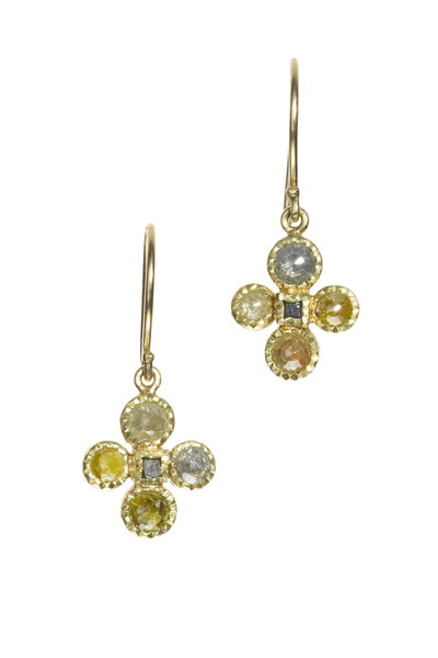Todd Reed - Yellow Gold Natural Diamond Dangle Earrings