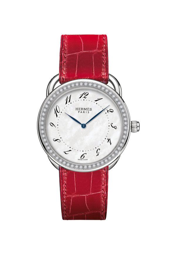 Hermès Arceau GM Steel Watch, Large Model