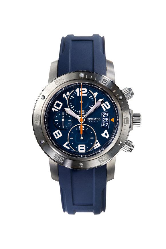 Hermès Clipper Chronograph Watch, 44mm