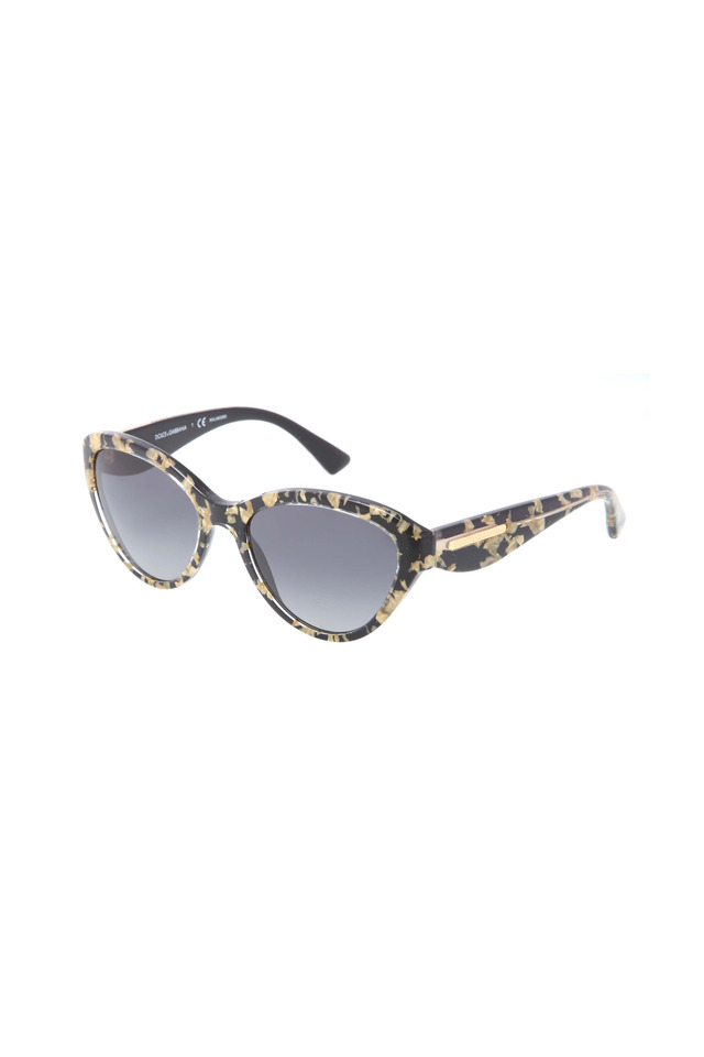 Cat-Eye Black And Gold Sunglasses