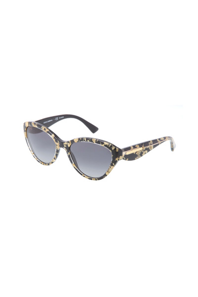 Dolce & Gabbana - Cat-Eye Black And Gold Sunglasses
